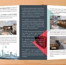 Tríptico Centro de la Emigración Riojana. Un proyecto de Dirección de arte, Br, ing e Identidad y Diseño gráfico de Nacho Salvador         - 06.07.2014