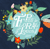 Premade Floral Logos. A Illustration project by Mia Charro         - 07.07.2014