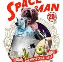 SPACE MAN / collage. Un proyecto de Ilustración y Fotografía de Gustavo Solana         - 06.07.2014