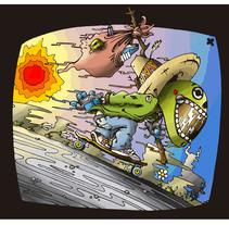 Downhill Sureño. A Illustration project by Luis Alvarez de Juan - 29-05-2014