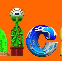 Logos para NICKELODEON  . Un proyecto de Ilustración, 3D, Diseño de personajes, Escenografía y Tipografía de Raul Real         - 15.07.2014