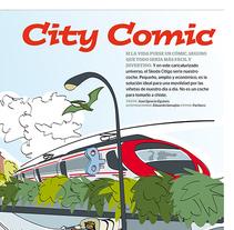 Publi-reportaje del Skoda Citygo para la revista Automóvil. Un proyecto de Ilustración de Eduardo Samajón Mencía - 17-07-2012