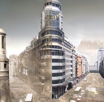 Matte Painting - Gran Via. A Illustration, Film, Video, TV, and 3D project by Eduardo Samajón Mencía - 17-09-2013