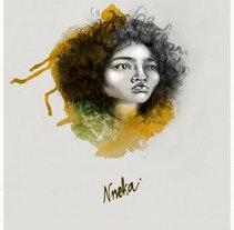 Nneka (caricature). Un proyecto de Ilustración, Bellas Artes, Diseño gráfico y Pintura de Olga M.         - 20.07.2014