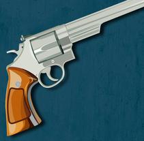 Smith & Wesson M29 .44 Magnum. Un proyecto de Ilustración y Diseño gráfico de Óscar Treviño Gonzalvo - Lunes, 28 de julio de 2014 00:00:00 +0200