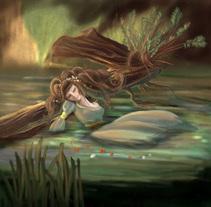 Ofelia reinterpretación de la obra de Alexandre Cabanel. A Illustration, Art Direction, and Fine Art project by Laura Zamora         - 04.08.2014