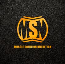 Branding Muscle Solution Nutrition. Um projeto de Br e ing e Identidade de Mokaps          - 26.07.2014