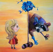 """Al otro lado del mundo"" - libro ilustrado.. A Illustration, and Painting project by Andrzej Krupinski         - 03.09.2014"