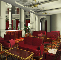 Interiorismo - Hotel Reforma. Um projeto de 3D, Arquitetura de interiores e Design de interiores de Daniel Blanco Puig         - 11.09.2010