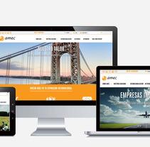 Amec - Organización de empresas. Um projeto de Web design e Desenvolvimento Web de Lamaga Comunica         - 14.09.2014
