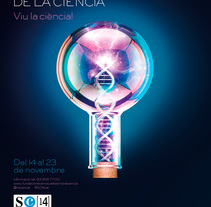 Cartell  19a SETMANA DE LA CIÈNCIA (Biotecnologia). A Advertising, 3D, and Graphic Design project by O'DOLERA         - 17.09.2014