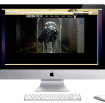 Microsite Sherlock. A Graphic Design, and Web Design project by Diana Campos Ortiz         - 25.02.2013