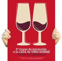 "CATA DE VINO ""GURMÉ"" Delicatessen: VINOS DE GRANADA. Um projeto de Br, ing e Identidade e Design editorial de Modesto Pérez         - 07.10.2014"