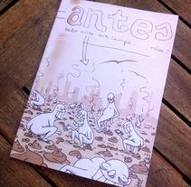 Portada del Nº2 de revista literaria. Um projeto de Ilustração de Iratxe Fdz. de las Heras Lpz. de Guereñu - 12-10-2014
