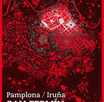 Cartel San Fermín 2012 . Un proyecto de Diseño gráfico de César Calavera Opi - 21-10-2014