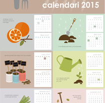 Calendario hortelano. Un proyecto de Ilustración y Diseño gráfico de Abril Millán - 30-10-2014
