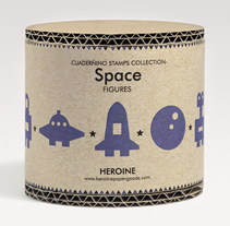 Space stamps set. A Game Design, Packaging, and Product Design project by Heroine Studio - 17-11-2014