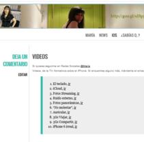 Videos, de la TV, formativos sobre el iPhone. A Multimedia project by María Díaz-Llanos Lecuona         - 19.11.2014