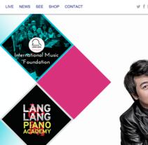 Lang Lang Official Website. Um projeto de Web design de Santiago Avilés         - 08.02.2014