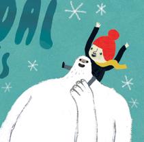 Navidad con el Yeti. Um projeto de Design, Ilustração e Publicidade de Cinta Arribas         - 09.12.2014