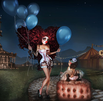 Lady Carnivale / 3d max and Photoshop. A 3D, and Graphic Design project by irene  puertas pascual         - 05.01.2015