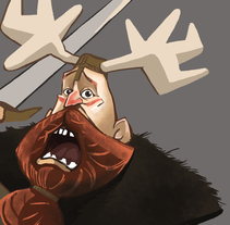 Vikings. Illustration. A Animation, Character Design&Illustration project by Paloma García de Soria Lucena - 01.07.2015