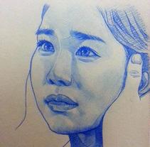 Blue pencil drawings / Dibujos a lápiz azul. A Fine Art project by Laura Portolés Moret - 13-01-2015