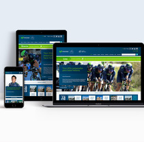 Movistar Team Web 2015. Un proyecto de Dirección de arte, Diseño gráfico y Diseño Web de Álvaro Melgosa         - 15.01.2015