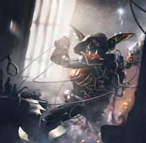 The Exoskeletoncoal 3000 suit. Un proyecto de Ilustración y Diseño de personajes de Jose Barrero - 17-04-2014
