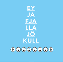 Eyjafjallajökull. A Design, Illustration, Graphic Design, T, and pograph project by Julio Gárnez         - 26.01.2015