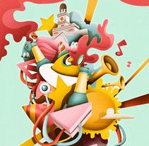 Ilustración para marca de cerveza. . Un proyecto de Dirección de arte, Ilustración y Publicidad de Óscar Lloréns - Miércoles, 28 de enero de 2015 00:00:00 +0100