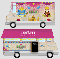 Delhi Food Truck. A Design, Illustration, and Automotive Design project by Anna  Pujadas Baqué - 19-01-2015