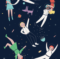 Cosmic Party. A Illustration project by Marta Ángel Ruiz         - 09.02.2015