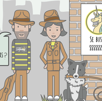 Las aventuras de Yellow & Gray Jones. A Br, ing, Identit, Web Design, and Comic project by estudio - 18-02-2015