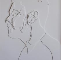 Cartografías del origen - Autorretratos en cartón pluma de 100 cm x 70 cm. A Fine Art project by Borja Alegre Pallach - 02.21.2015