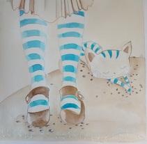 Alícia en el país de les meravelles (pintades amb tè, cafè i tintes). Un proyecto de Ilustración de montse.mazorriaga         - 24.02.2015