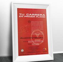 Universidad Carlos III. Cartel Carrera Audiovisual. Un proyecto de Publicidad, Dirección de arte y Diseño gráfico de Mar Gómez - 09-03-2015