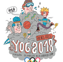 YOG // Juegos Olimpicos de la Juventud 2018. Um projeto de Design, Ilustração e Direção de arte de Maikol De Sousa         - 09.03.2015