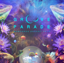 Groove Parade 2015. A Illustration, Art Direction, and Graphic Design project by DSORDER  - 11-03-2015