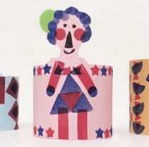 How to make a paper family. Workshop.. Un proyecto de Diseño de personajes, Educación y Collage de Heroine Studio - 15-03-2015