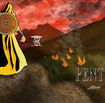 Carátula videojuego Pentio. A Illustration project by JaimedFL - 19-03-2015