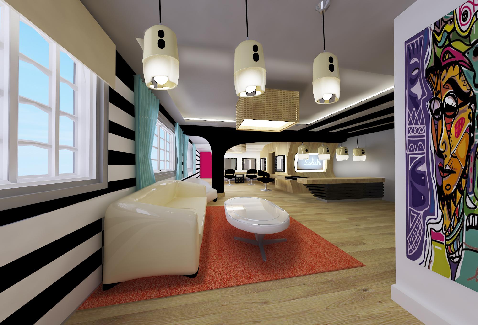 Diseño interior de salón de belleza | Domestika