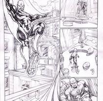 Páginas Comic Marvel-DC-Varios. Un proyecto de Bellas Artes, Comic, Diseño de personajes e Ilustración de Pablo Alcalde  - Martes, 07 de abril de 2015 00:00:00 +0200