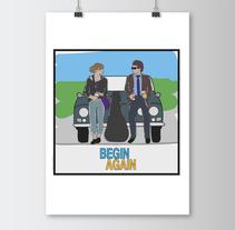 "Ilustración ""Begin Again"". Um projeto de Design, Ilustração e Design gráfico de Lorena Caminero Ambit         - 26.04.2015"