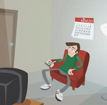 Aburrido con la TV. A Illustration project by César Casado - Apr 29 2015 12:00 AM