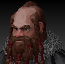 """Enano / Dawrf """"Iron Skin"""" (Modelado de personajes en 3D). Um projeto de 3D, Design de personagens e História em quadrinhos de Erick Tosco         - 30.04.2015"""
