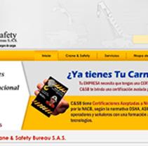 Web Crane & Safety Bureau S.A.S.. Um projeto de Desenvolvimento Web de Carlos Cuartas         - 03.05.2015