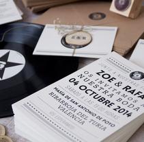 Invitaciones boda Zoe&Rafa. A Design, Graphic Design, T, and pograph project by Mireia Miralles Lamazares         - 05.05.2014