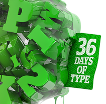 36 days of type. A T, and pograph project by Txaber Mentxaka - May 11 2015 12:00 AM