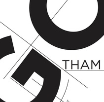 Poster de la tipografía Gotham. A Illustration, Graphic Design, T, and pograph project by Andrea Peña         - 15.02.2015